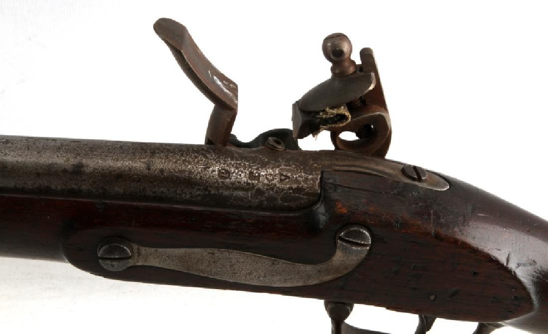 19TH CENTURY ANTIQUE FLINTLOCK SPRINGFIELD MUSKET - 8
