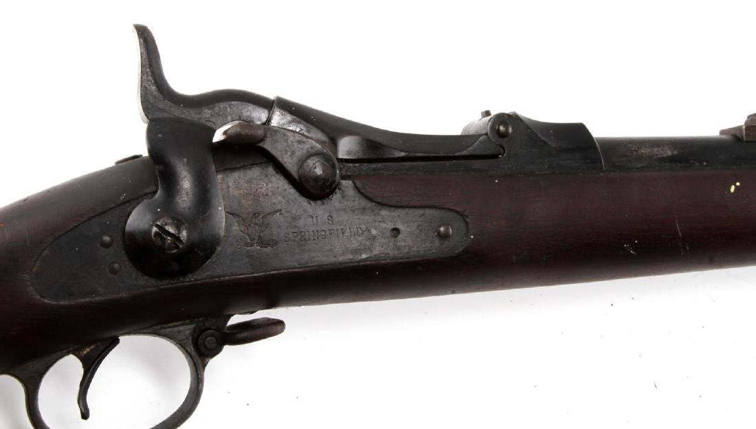 US SPRINGFIELD MODEL 1884 TRAPDOOR .45 70 RIFLE - 7