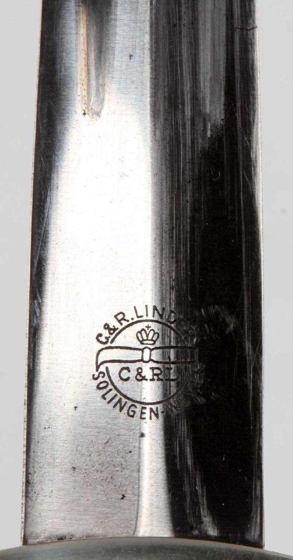 WWII GERMAN THIRD REICH NSKK EM DAGGER W/ SHEATH - 4