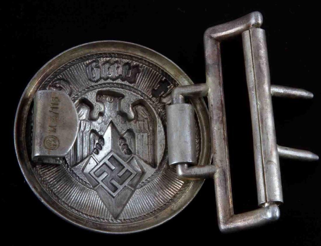 WWII GERMAN HITLER JUGEND OFFICER BELT BUCKLE RARE - 2