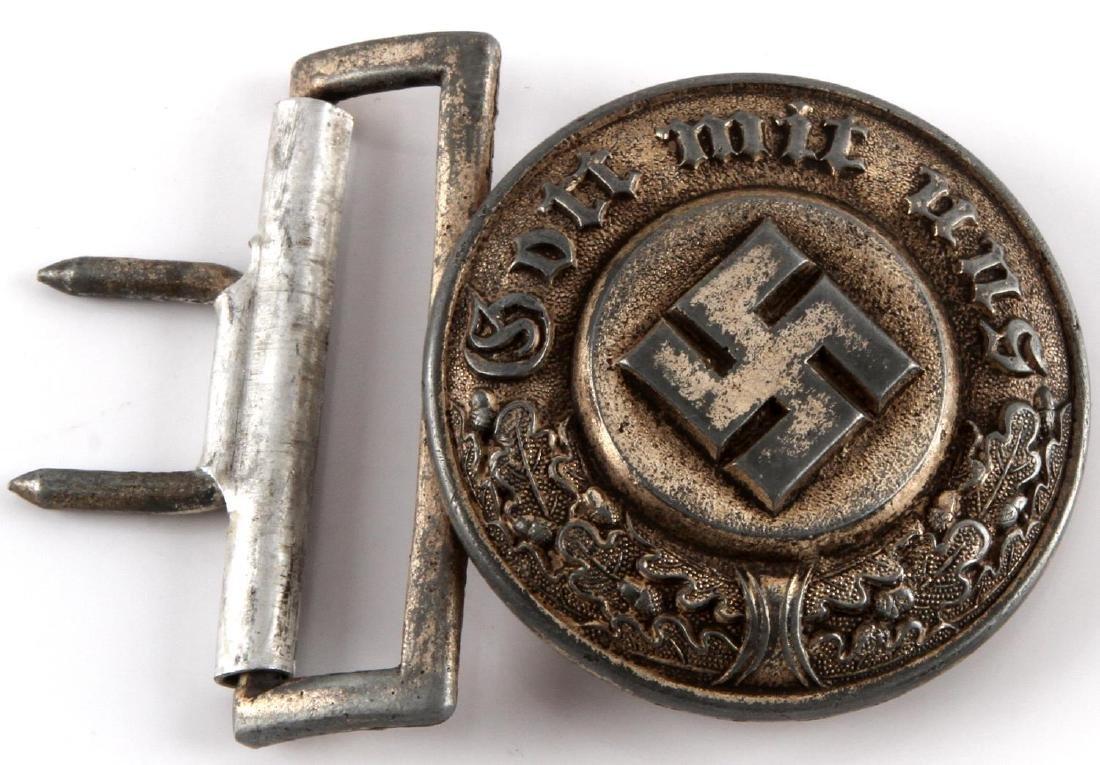 WWII GERMAN NAZI ORPO OFFICER'S BELT BUCKLE