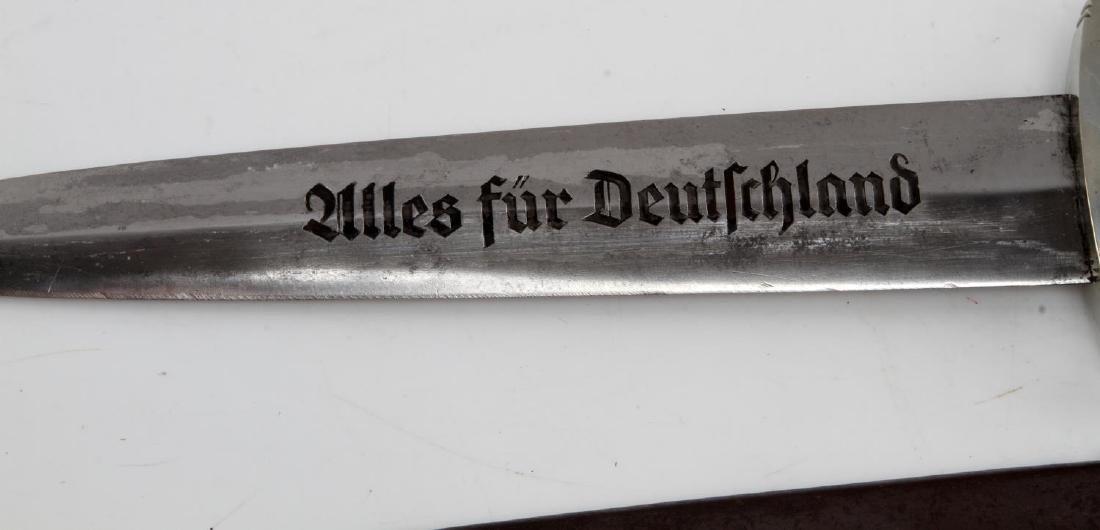 WWII GERMAN THIRD REICH SA EM DAGGER W/ SHEATH - 3