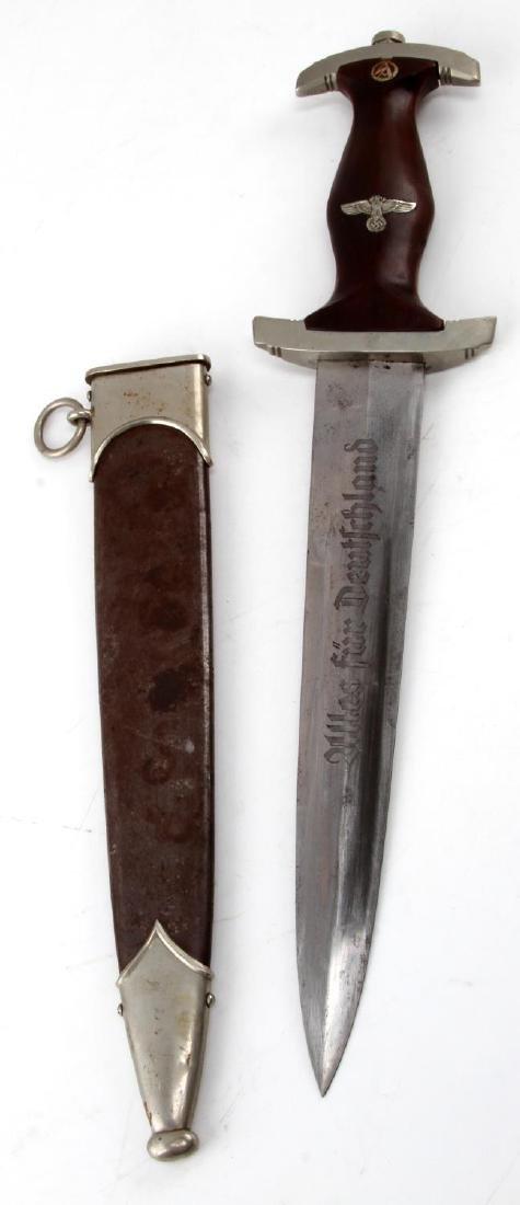 WWII GERMAN THIRD REICH SA DAGGER WITH SCABBARD - 3