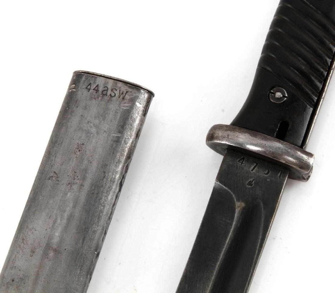 WWII GERMAN K98 MAUSER BAYONET WITH SCABBARD - 4