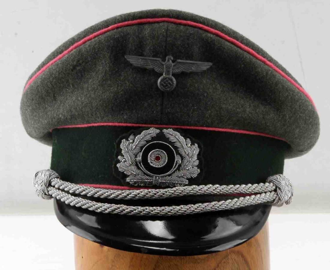 WWII GERMAN THIRD REICH ARMY PANZER OFFICER CAP