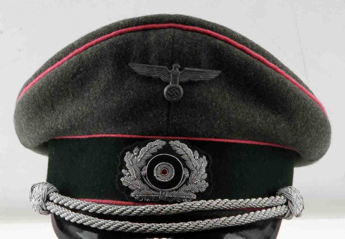 WWII GERMAN THIRD REICH ARMY PANZER OFFICER CAP - 2