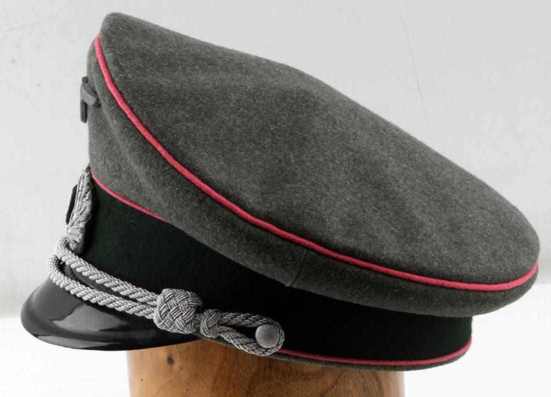 WWII GERMAN THIRD REICH ARMY PANZER OFFICER CAP - 3