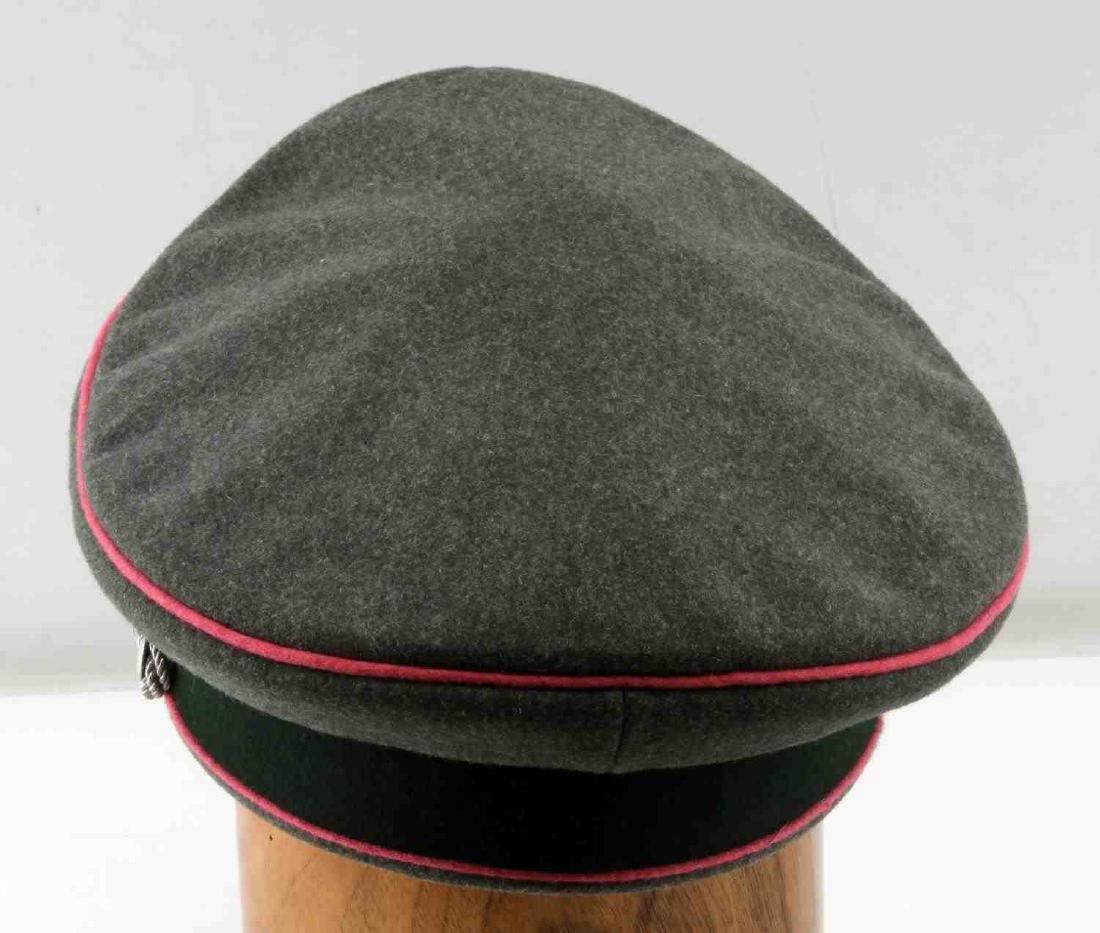 WWII GERMAN THIRD REICH ARMY PANZER OFFICER CAP - 4