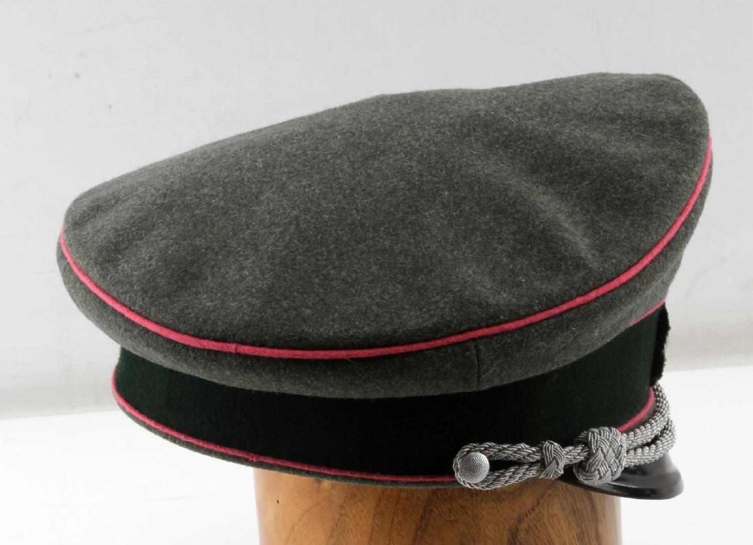 WWII GERMAN THIRD REICH ARMY PANZER OFFICER CAP - 5