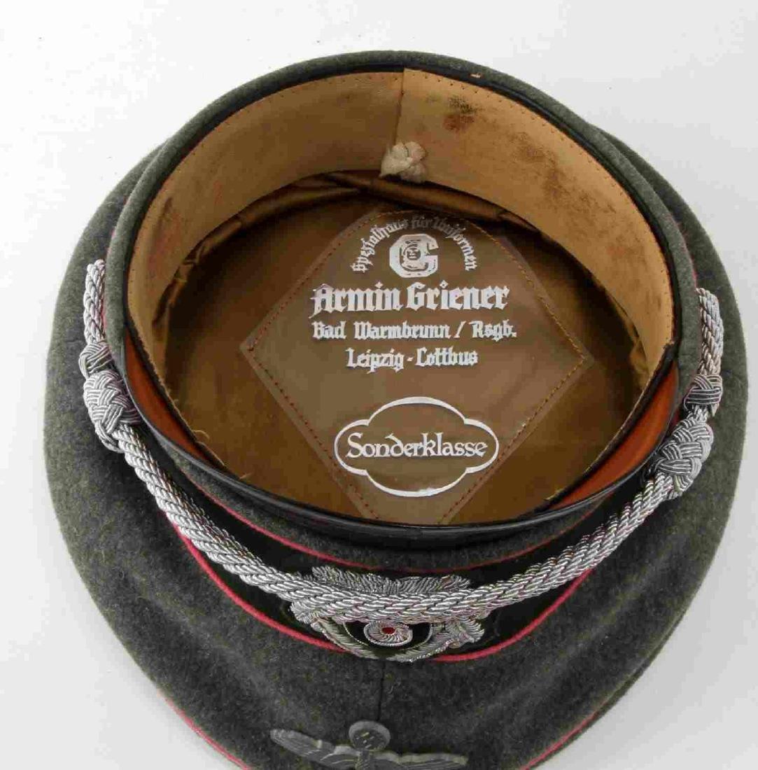 WWII GERMAN THIRD REICH ARMY PANZER OFFICER CAP - 6