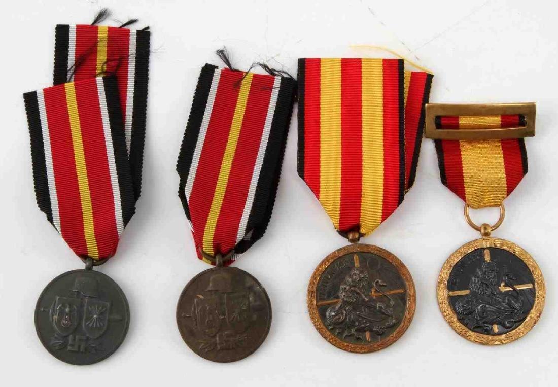LOT OF 4 WWII SPANISH CONDOR LEGION MEDALS 1936