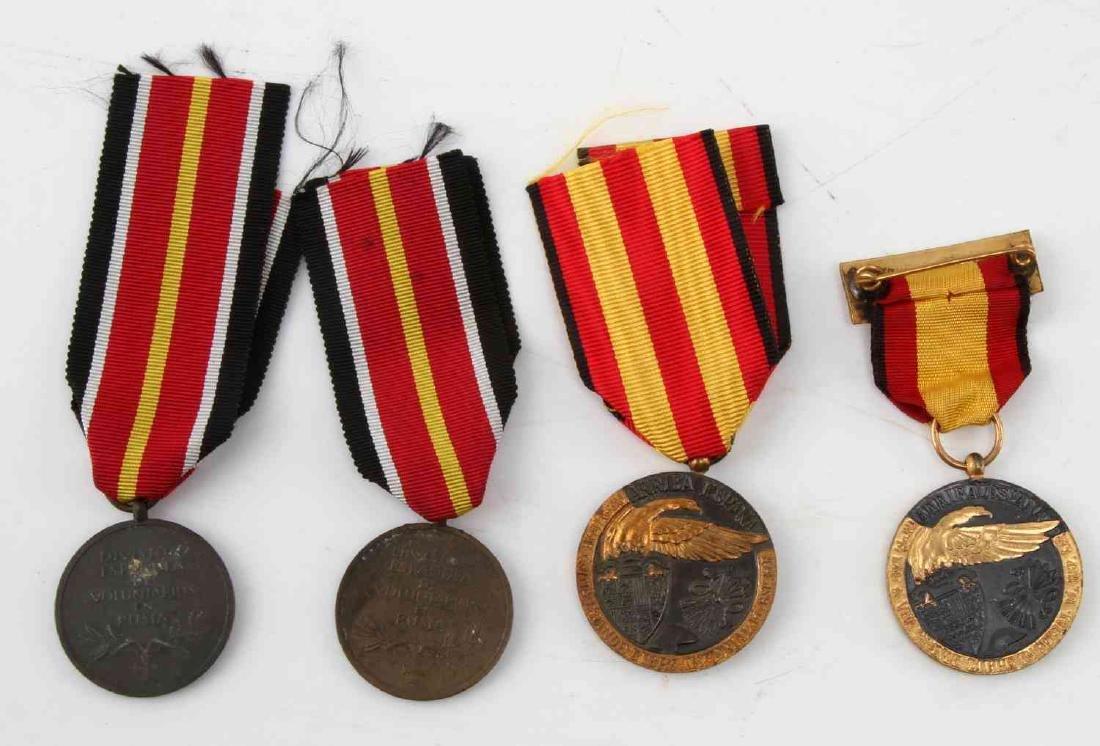 LOT OF 4 WWII SPANISH CONDOR LEGION MEDALS 1936 - 2