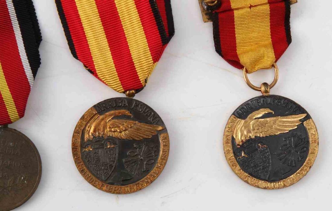 LOT OF 4 WWII SPANISH CONDOR LEGION MEDALS 1936 - 3