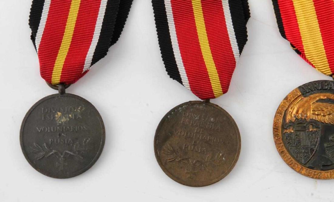 LOT OF 4 WWII SPANISH CONDOR LEGION MEDALS 1936 - 4