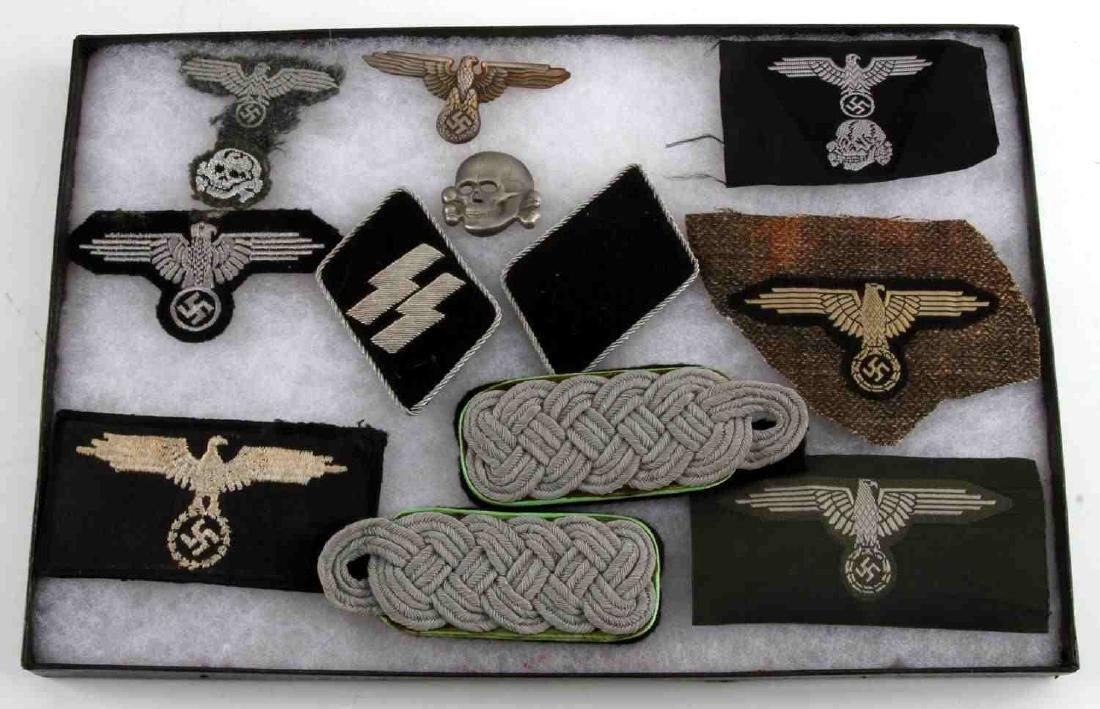 WWII GERMAN THIRD REICH WEHRMACHT AND SS PATCH LOT