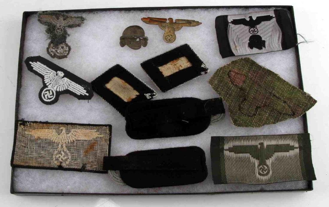 WWII GERMAN THIRD REICH WEHRMACHT AND SS PATCH LOT - 2