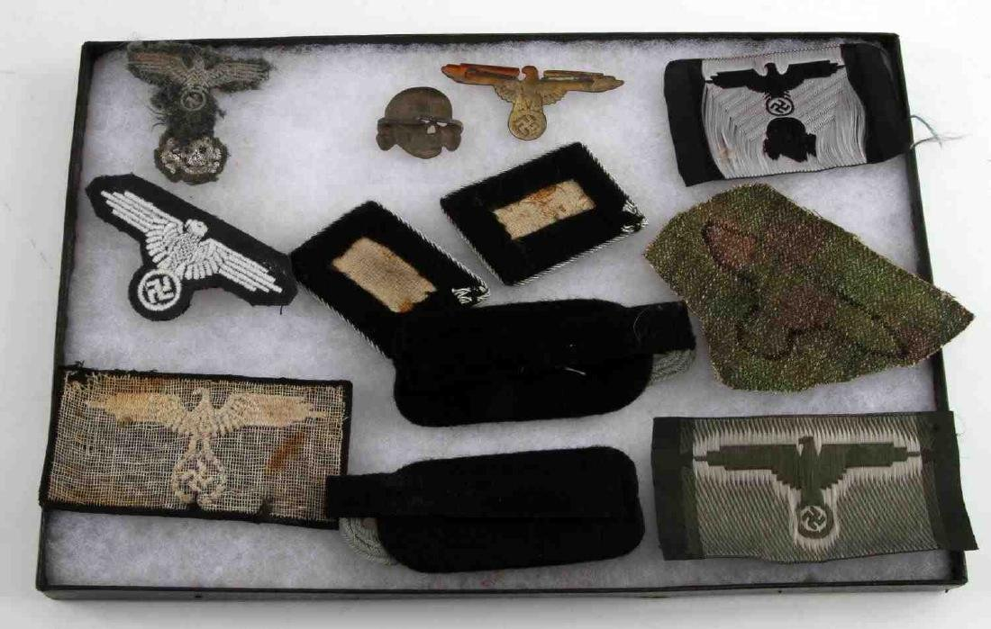 WWII GERMAN THIRD REICH WEHRMACHT AND SS PATCH LOT - 3