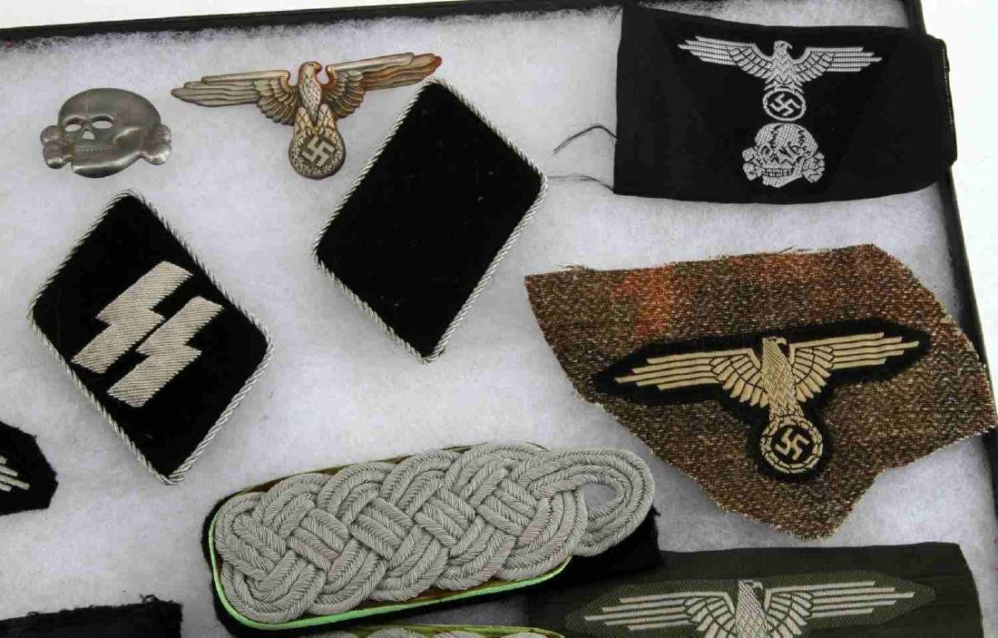 WWII GERMAN THIRD REICH WEHRMACHT AND SS PATCH LOT - 5