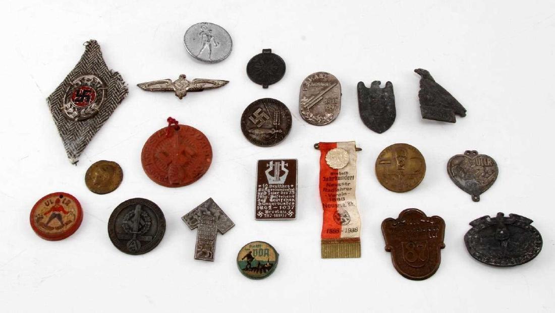 LOT OF 20 NSDAP GERMAN THIRD REICH PINS & MEDALS