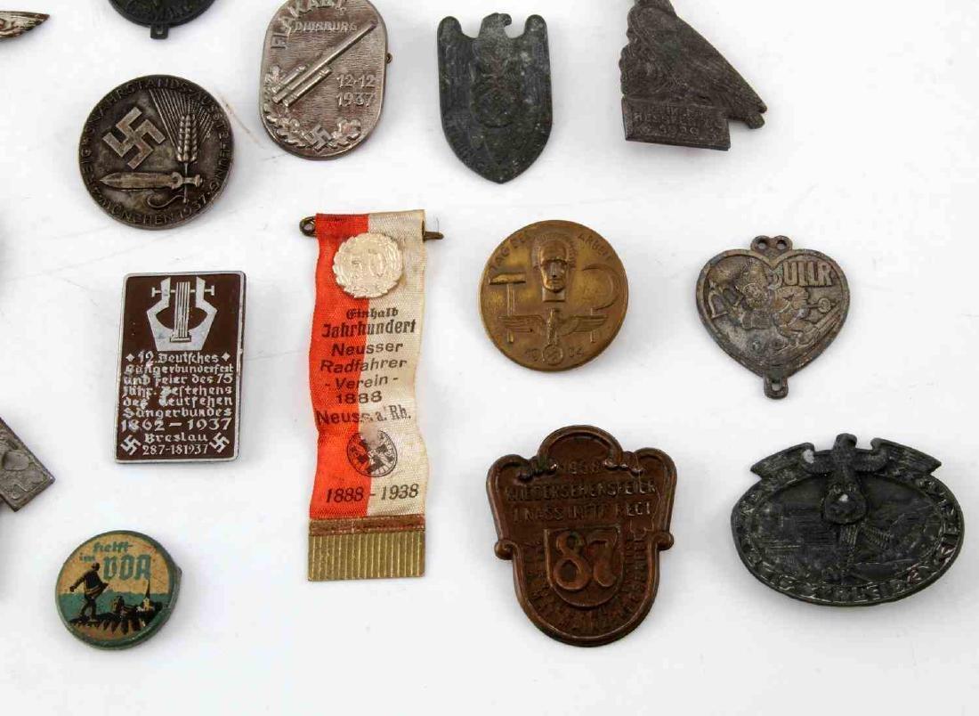 LOT OF 20 NSDAP GERMAN THIRD REICH PINS & MEDALS - 2