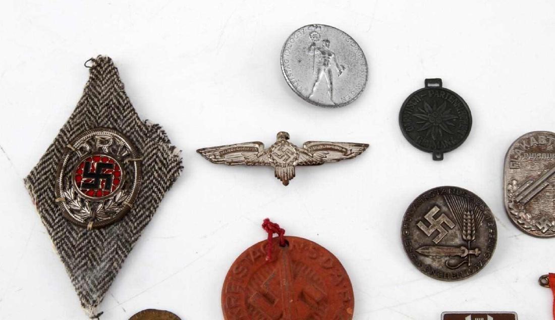 LOT OF 20 NSDAP GERMAN THIRD REICH PINS & MEDALS - 3