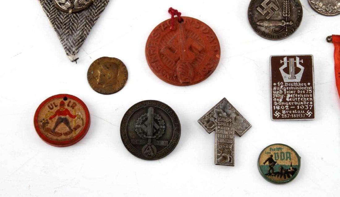 LOT OF 20 NSDAP GERMAN THIRD REICH PINS & MEDALS - 4