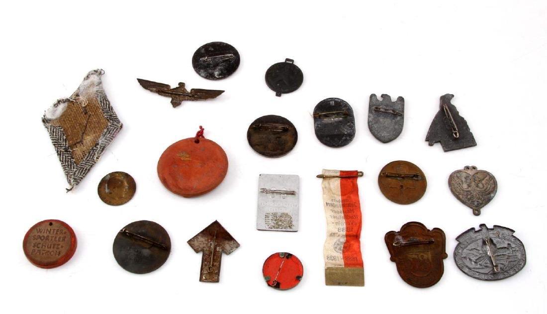 LOT OF 20 NSDAP GERMAN THIRD REICH PINS & MEDALS - 5