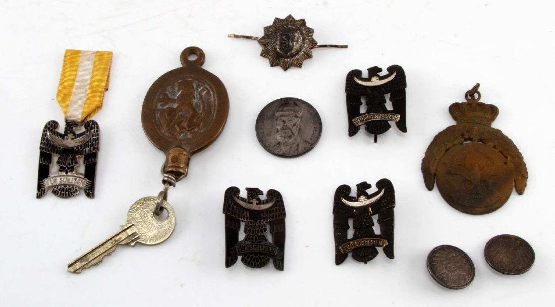 LOT OF RARE IMPERIAL WEIMAR GERMAN PINS & MEDALS