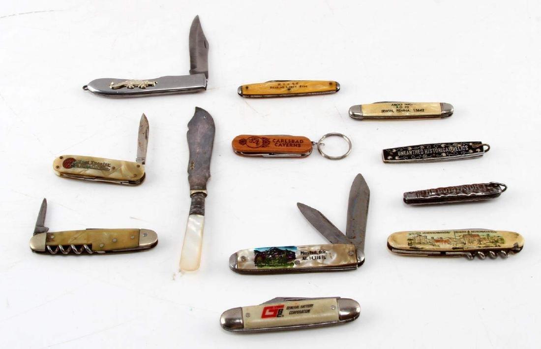 LOT OF 12 VINTAGE POCKET KNIVES & SPREADER