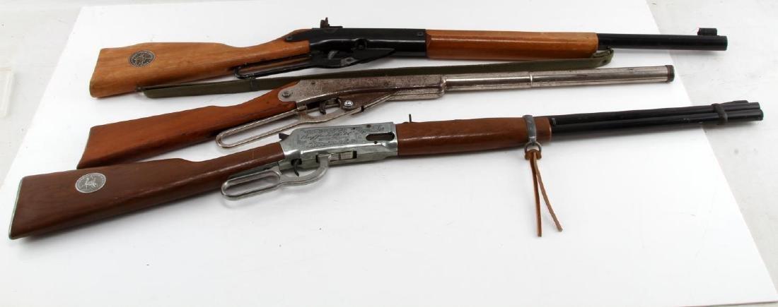 3 DAISY VINTAGE BB GUNS MODEL 99 36 & 25