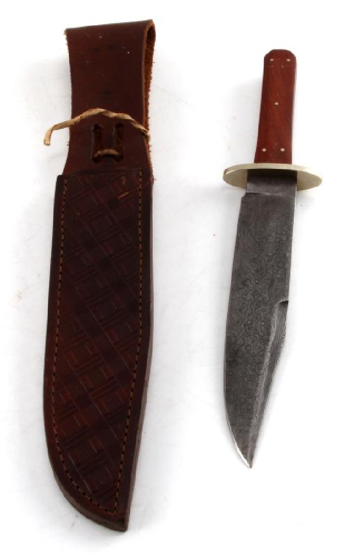 HAND MADE DAMASCUS STEEL BOWIE STYLE KNIFE