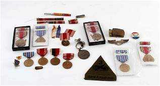 WWII TO MODERN US MILITARY BADGE MEDAL PATCH LOT