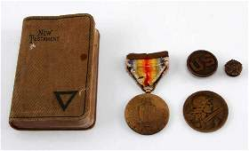 WWI US SOLDIER PERSONAL ITEM LOT OF FIVE