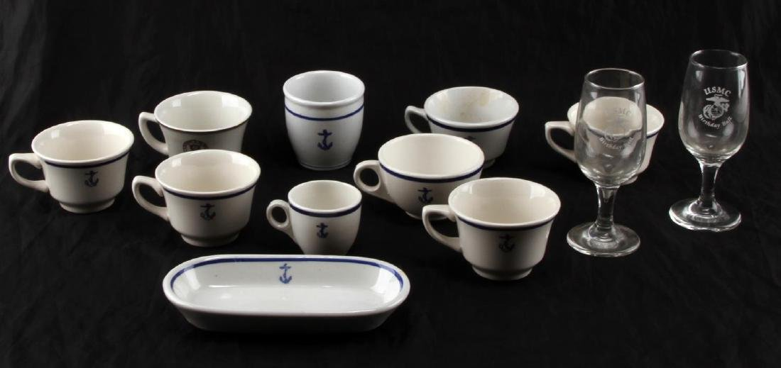 WWII OR COLD WAR US NAVY MESS CHINAWARE LOT OF 12