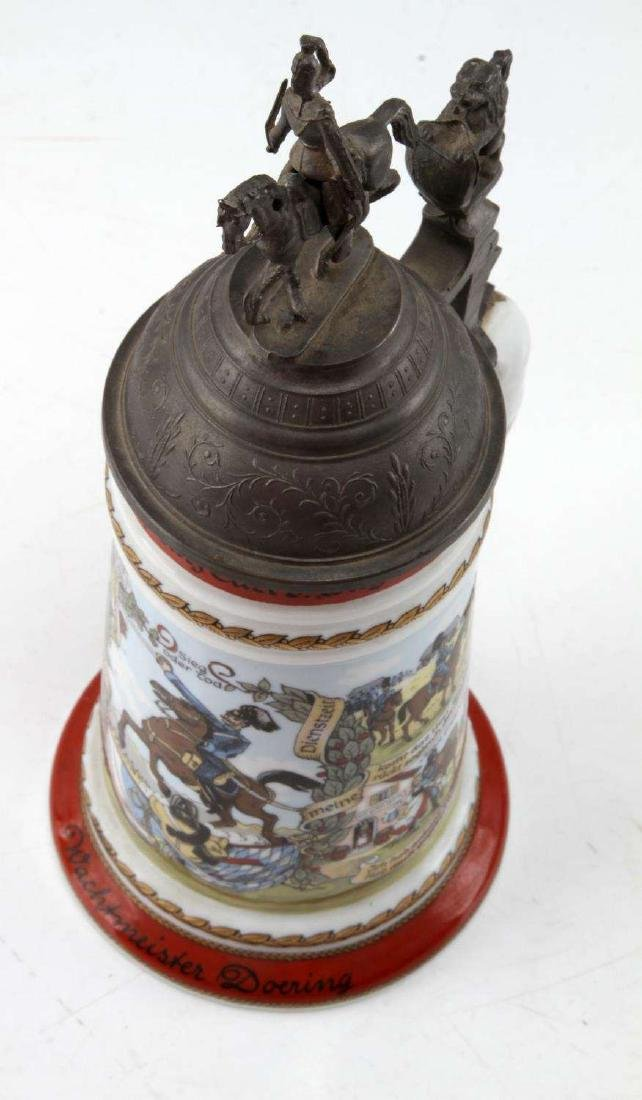 GERMAN REGIMENTAL PORCELAIN STEIN LITHO BASE