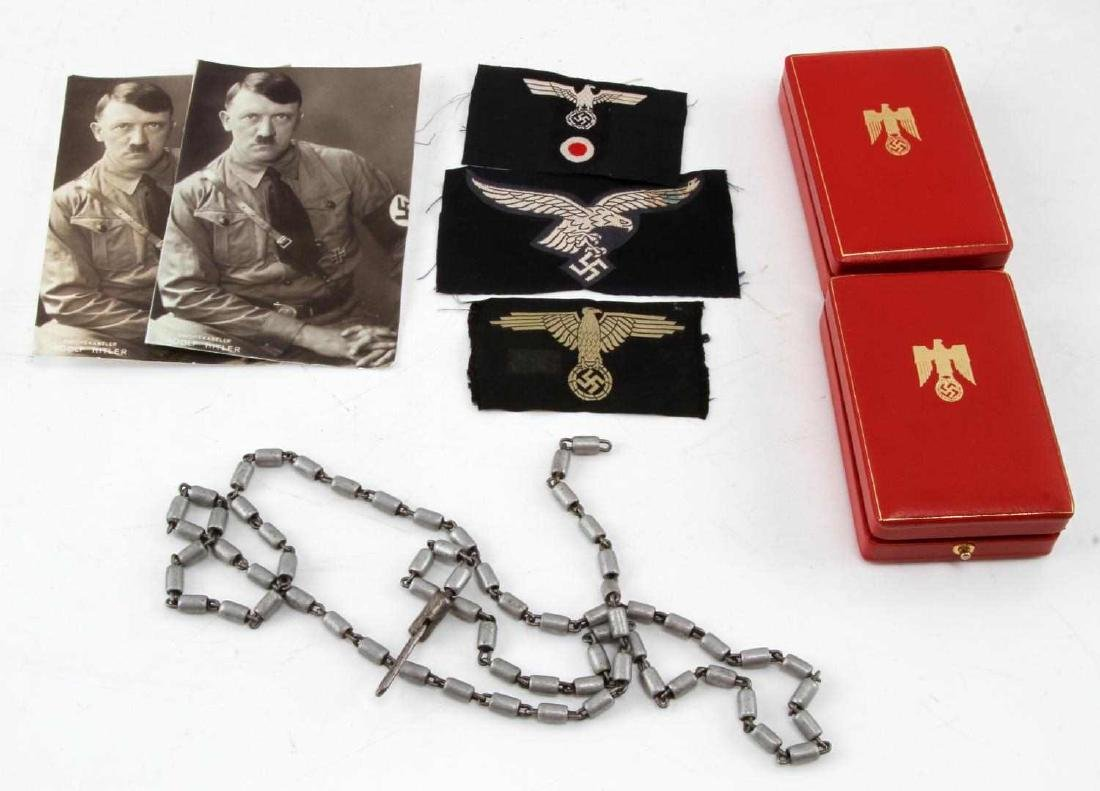 WWII THIRD REICH PATCH PHOTO BOX MIXED LOT