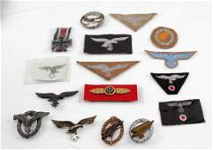 WWII GERMAN THIRD REICH PATCH BADGE AND MEDAL LOT