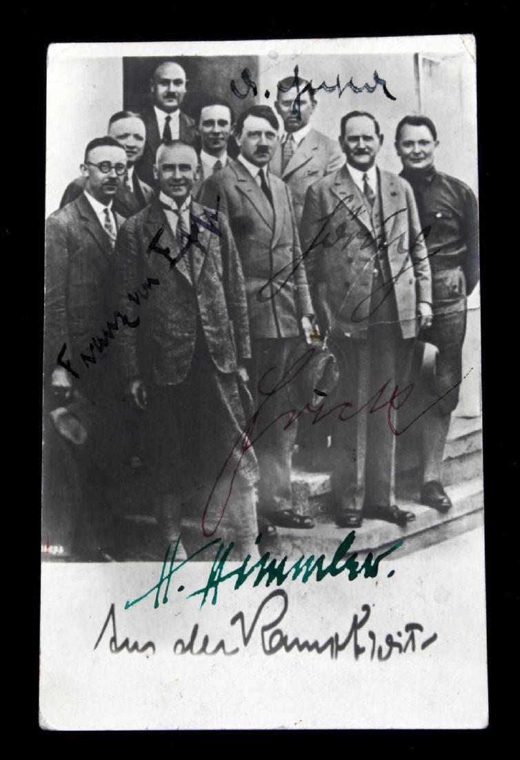 WWII GERMAN THIRD REICH NSDAP LEADER SIGNATURE LOT