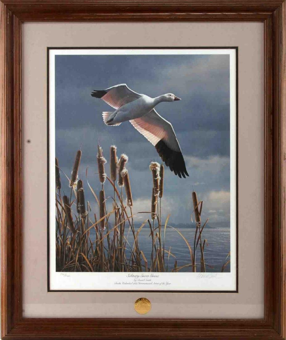 DUCKS UNLIMITED PRINT SNOW GOOSE BY DANIEL SMITH