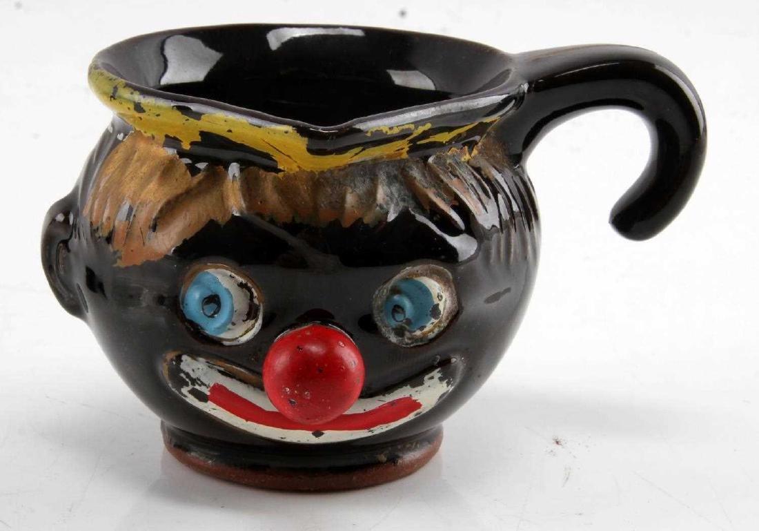 BLACK AMERICANA CREAMER CUP SALT & PEPPER SHAKERS - 3