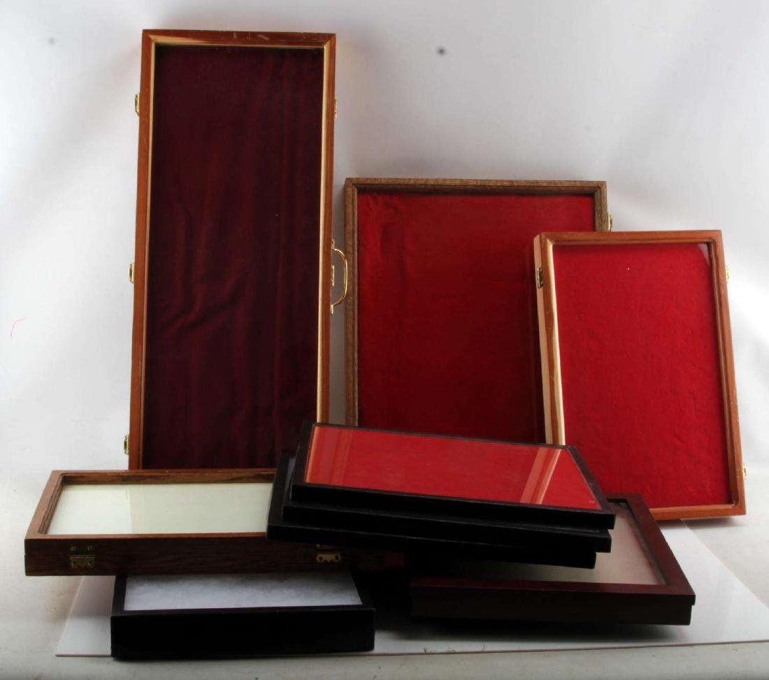 10 LARGE RIKER MOUNT SHADOW BOX & DISPLAY CASE LOT