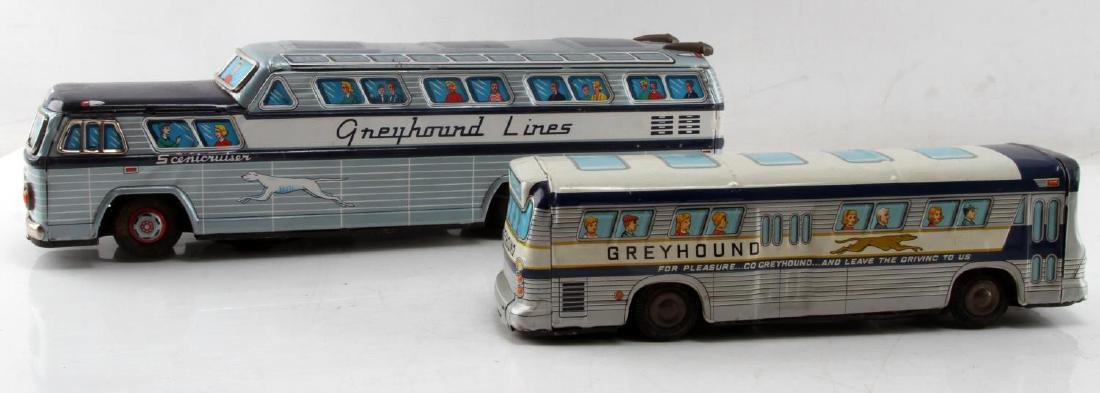 GREYHOUND LINES SCENIC CRUISER BUS TIN LITHO TOY