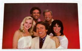 THREES COMPANY POSTCARD SIGNED BY 5 RITTER DEWITT