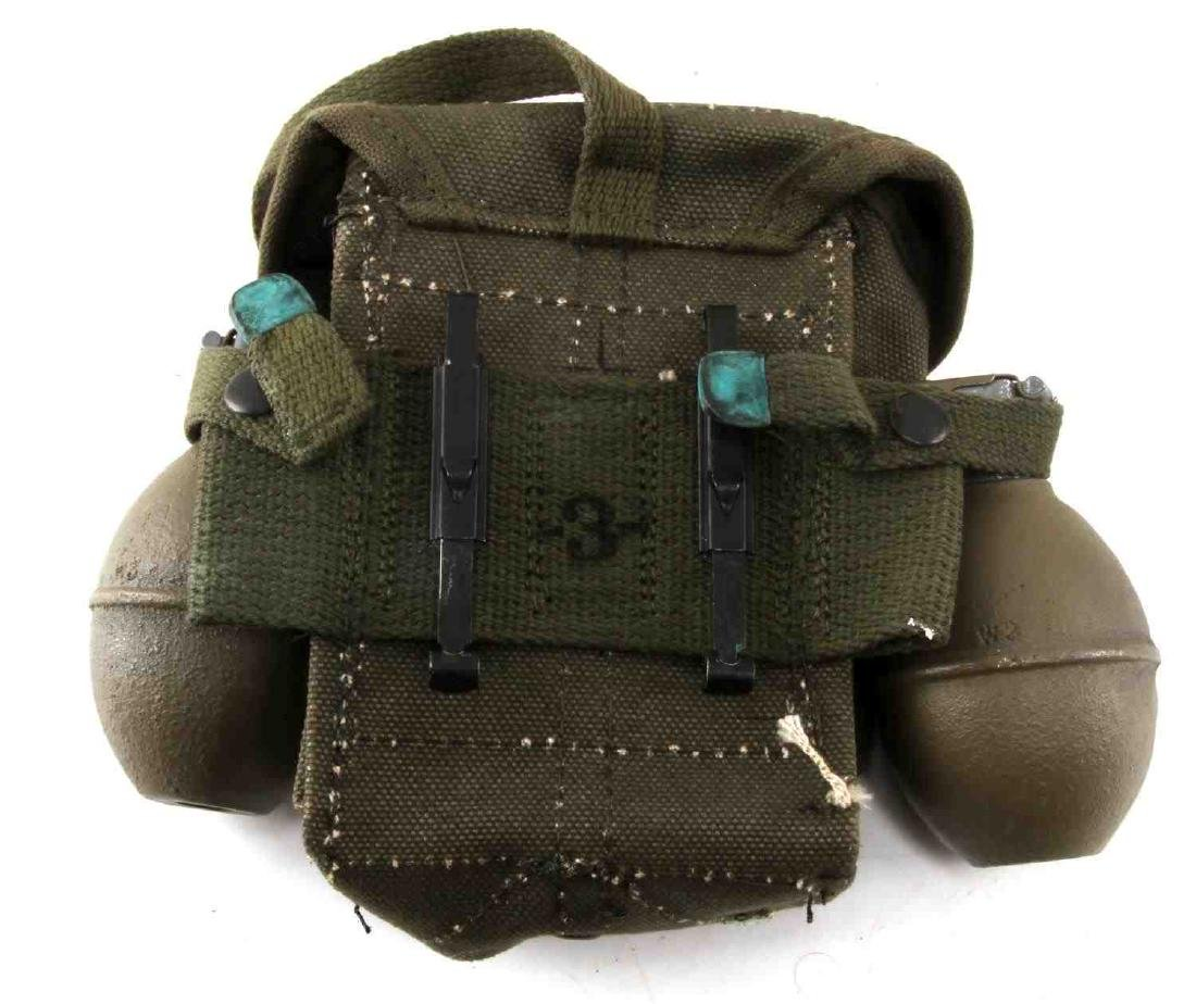 POST WWII US ARMY AMMO POUCH AND DUMMY GRENADE LOT - 3