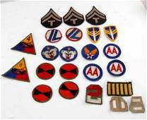 LOT OF WWII & LATER MULTI CONFLICT US DIV PATCHES