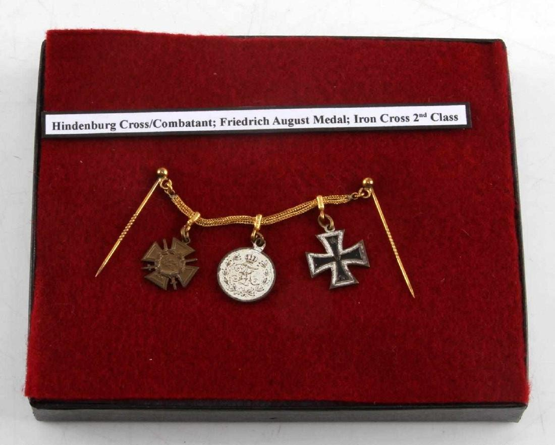 WWI WWII MINI MEDALS HINDENBURG IRON CROSS AUGUST