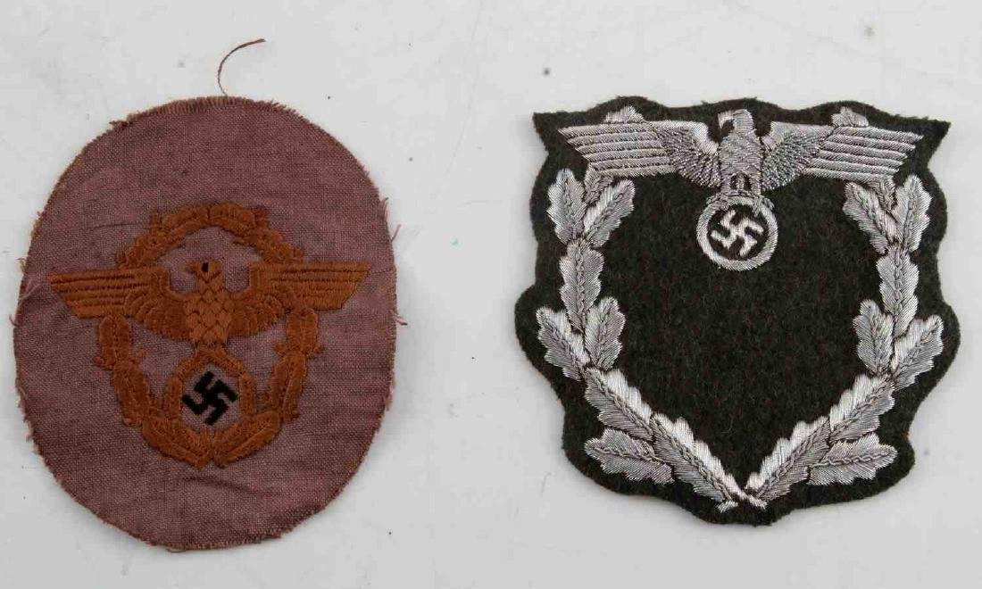 WWII GERMAN THIRD REICH DIPLOMAT AND POLICE PATCH