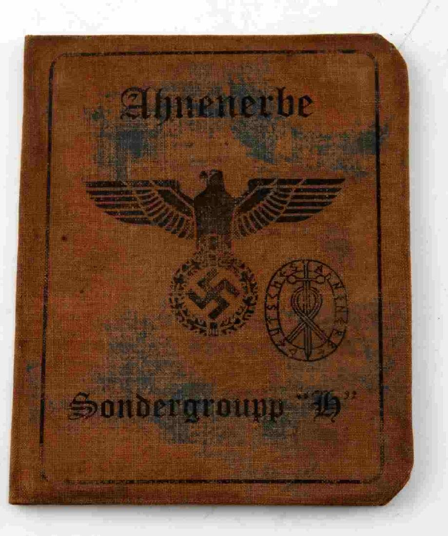 WWII GERMAN THIRD REICH AHNENERBE ID CARD