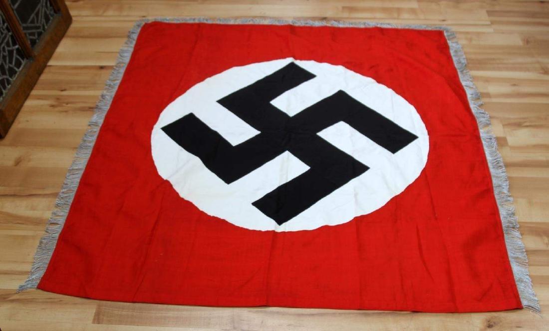 WWII GERMAN BULLION FRINGE NATIONAL FLAG BANNER