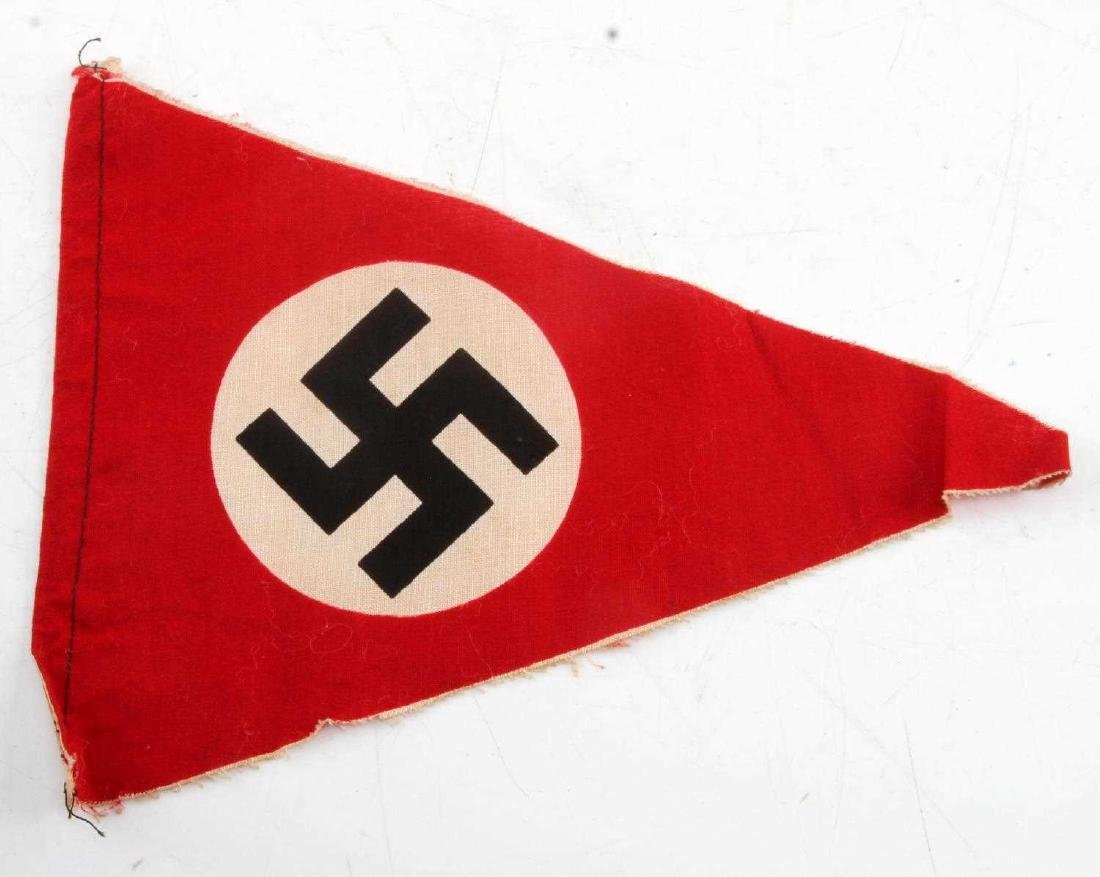 SMALL GERMAN WWII THIRD REICH PARTY PENNANT